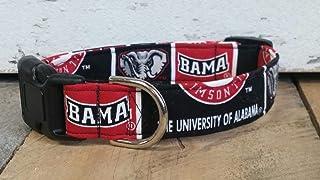 Alabama Crimson Tide University dog collar buckle or martingale with leash set option