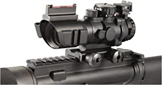 Ade Advanced Optics 4x32 Fixed Power Green/blue/red Illuminated Reticle Compact Rifle Scope with Fiber Optic Tactical Sight and Weaver Slots