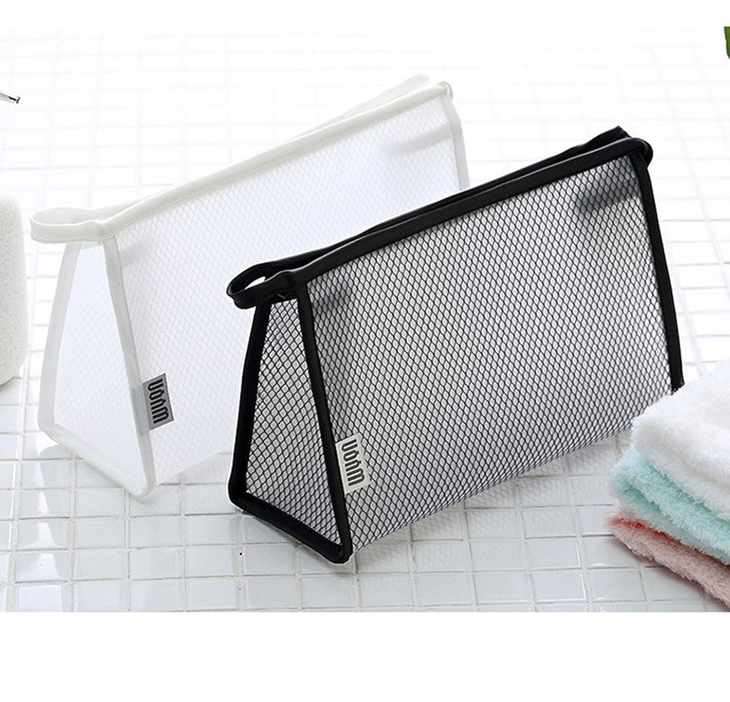 指メモ反対に透明 ビニール バッグ スクエア 化粧 ポーチ 小物収納 透明洗面具トラベル防水収納ポーチ バッグ 収納ケース 两件套 2点セット