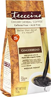Teeccino Chicory Coffee Alternative – Gingerbread – Holiday Dessert Beverage That's Prebiotic, Caffeine-Free & Acid Free, ...