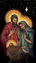 WOWindow Posters Jesus Mary Joseph Manger Christmas Window Decoration 34.5