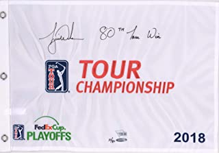 Tiger Woods Autographed 2018 Tour Championship Pin Flag with