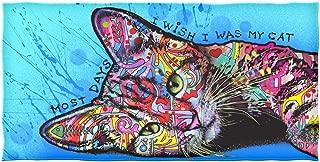 Dawhud Direct Dean Russo Cotton Beach Towel (Wish I was My Cat)