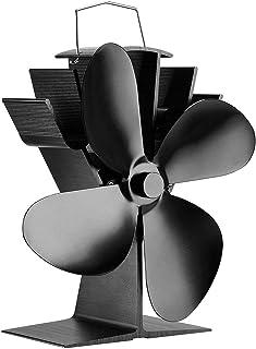 2019改良版放熱設計ファンブレード 耐久性抜群!おしゃれ ロケットストーブサーキュレーター 薪ストーブアクセサリー 暖房器具 空気循環 50℃〜400℃で動作させる 薪ストーブファン エコストーブファン(温度計付き)