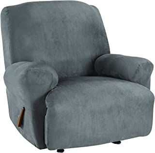 SureFit Ultimate Stretch Suede - Recliner Slipcover - Slate Gray (SF45266)