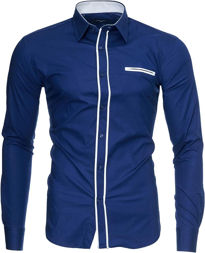 Kayhan, originale camicia per uomo, maniche lunghe, 97% cotone, 3% elastan A-TwoFace-0000135D