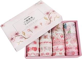 Artibetter 20 Pcs Floral Washi Ruban Ruban De Masquage Décoratif Adhésif Japonais Rubans d'emballage De Cadeaux pour Journ...