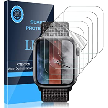 LK [6 Pack] Screen Protector Compatible with Apple Watch Series 6/Series 5/Series 4/SE 44mm Flexible TPU HD Clear Film Bubble-Free Anti-Scratch for iWatch 6/5/4/SE 44mm