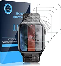 LK [6 Pack] Screen Protector Compatible with Apple Watch Series 6/Series 5/Series 4/SE 44mm Flexible TPU HD Clear Film Bub...