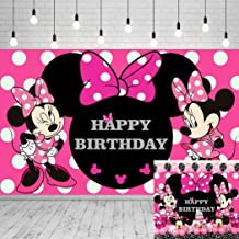 Pink Minnie Mouse ROUND Backdrop prop Clubhouse birthday party Pink Polka Dots backdrop prop or photo prop decoration Daisy Minnie Mickey