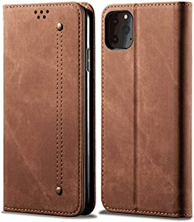 PU Leather Flip Cover Compatible with Samsung Galaxy S10 5G, brown Wallet Case for Samsung Galaxy S10 5G