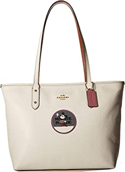 Minnie Mouse City Zip Tote with Patches ©Disney x COACH