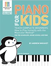 Piano For Kids: Teach complete beginners how to play instantly with the Musicolor Method: For preschoolers, grade schoolers and beyond! (Musicolor Method Piano Songbook Book 1)