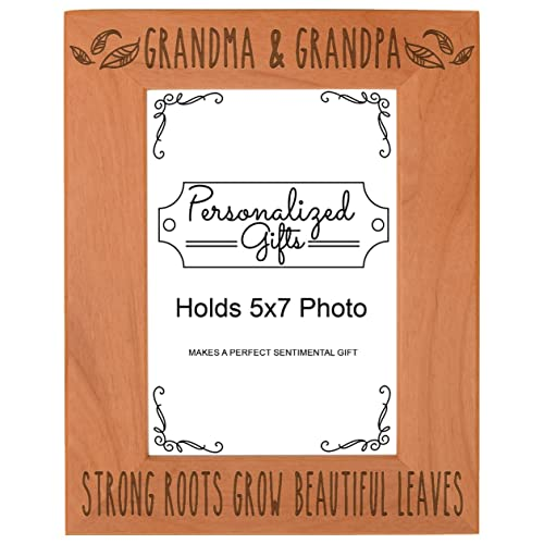 First Time Grandparents Gifts Grandma Grandpa Strong Roots Grow Beautiful Leaves Birthday Natural Wood
