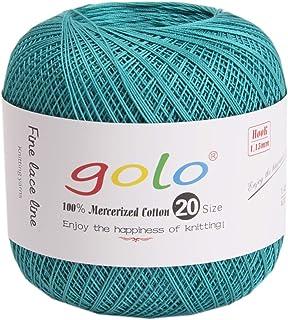 golo レース糸 20# 40g約360m/1玉 手織りライン (青)