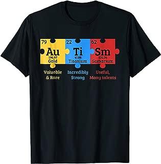 Autism Awareness Puzzle Chemical Element T-shirt