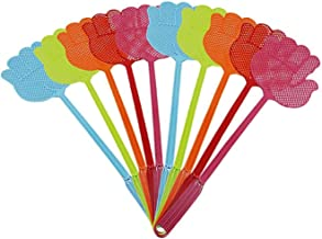 ValueHall 10 Stück Mehrfarbig Pest Control Fliegenklatsche für Fliegen, Mücken und Insekten V7023