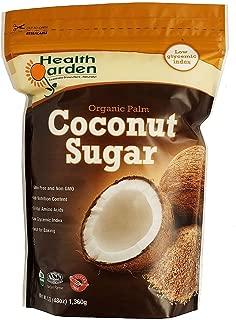 Health Garden Organic Coconut Sugar - All Natural Kosher Non GMO Sugar Substitute, 3 lb