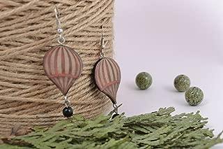 Handmade Polymer Clay Earrings Hot Air Balloons
