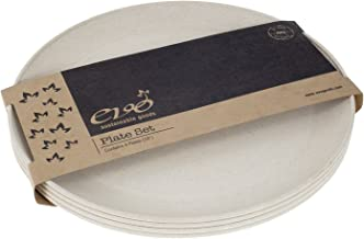 """EVO Sustainable Goods 10"""" Plate, Set of Four, White"""
