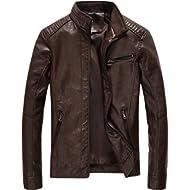 Fairylinks Leather Jacket Men... Fairylinks Leather Jacket Men Black Motocycle Lightweight Classic