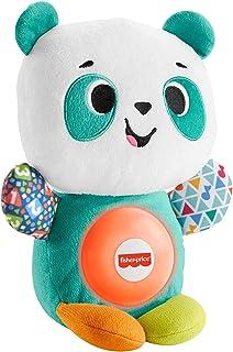 Fisher-Price Linkimals Play Together Panda, juguete de peluche para aprendizaje musical para bebés y niños pequeños