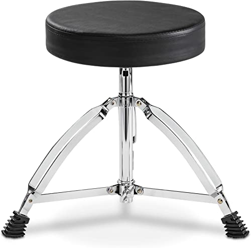 discount LyxJam Drum And Keyboard Throne Stool online sale Padded Soft Seat high quality Height Adjustable Portable Foldable Drummer Seat For Kids And Adults online sale