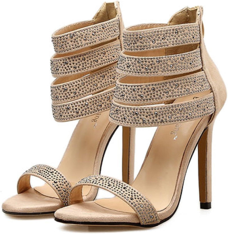 ZYQME Damen Wedding Party Schuhe Damen Mid High Heels Braut Knöchelriemen Sandalen Größe Neu    Verrückter Preis, Birmingham    Am wirtschaftlichsten    Bestellung willkommen