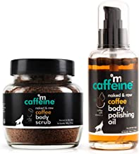 mCaffeine Coffee Cellulite & Stretch Mark Reduction Duo | Body Scrub, Body Oil | All Skin | Paraben & Mineral Oil Free
