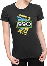 Made in 1990 - Señoras 28th Birthday Idea Novelty Camiseta Nineties De Las Mujeres