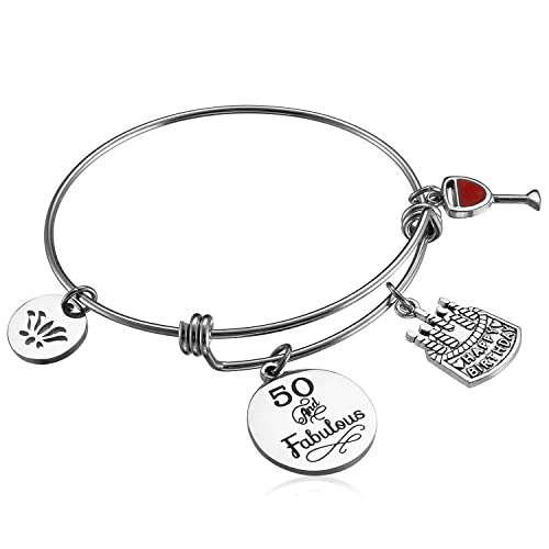 Hazado Happy Birthday Gifts For Women Expandable Bangle Bracelet 18th 40th 50th 60th 70th 90th Best