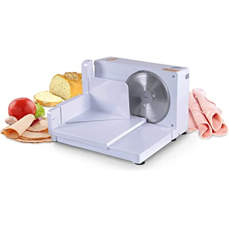 """SuperHandy Meat Slicer Electric Food Deli Bread Cheese Portable Collapsible 6.7"""" inch Stainless Steel RSG Solingen Blade"""