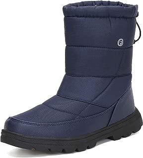 Womens Mens Winter Mid-Calf Snow Boot Fur Warm Waterproof Slip On Outdoor Athletic Casual Walking