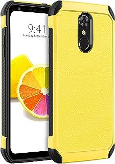 BENTOBEN LG Stylo 4 Phone Case, LG Stylo 4 Plus Case, LG Q Stylus Case, 2 in 1 Heavy Duty Rugged Hybrid Soft TPU Bumper Hard PC Cover Non-Slip Shockproof Protective Phone Case for LG Stylo 4, Yellow
