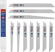 WORKPRO Zaagbladenset, 10-delig reciprozaagbladen 150/230 mm van BIM/HSS voor hout en metaal met kunststof doos