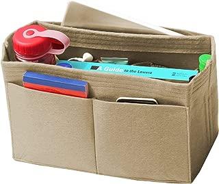 [Fits Neverfull GM/Speedy 40, Khaki] Felt Organizer, Bag in Bag, Wool Purse Insert, Customized Tote Organize, Cosmetic Makeup Diaper Handbag