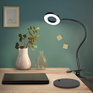 Anpro Clip Reading Lights, 48 LED USB Book Clamp Light with 3 Color Modes, 10 Brightness Dimmer and Auto Off Timer, Eye Pr...