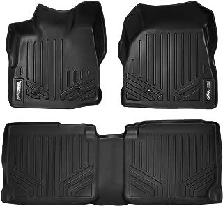 MAXLINER Floor Mats 2 Row Liner Set Black for 2011-2017 Chevy Equinox/GMC Terrain Dual Front Floor Posts