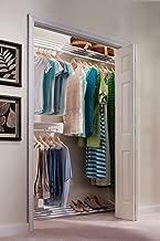 EZ Shelf - DIY Closet Organizer Kit - Expandable to 18.4 ft. Hanging & Shelf Space - White
