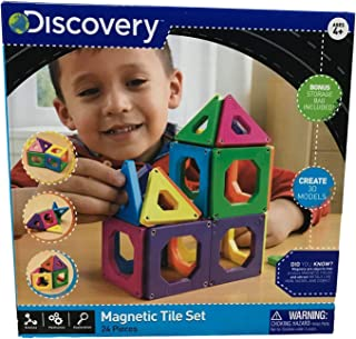 Discovery Kids Magnetic Tile Set (24 pieces)