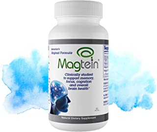 Magtein Magnesium L- Threonate - Bioavailable and 100% Water Soluble Magnesium - Clear Brain Fog, Improve Memory, Focus an...