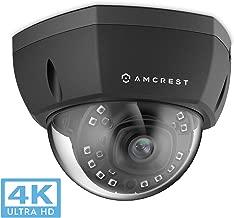 Amcrest 4K Outdoor POE IP Camera, UltraHD 8MP Security Camera, 3840x2160P Resolution, IK10 Vandal Resistant Dome, 2.8mm Lens, IP67 Weatherproof Security, Cloud & MicroSD Recording (IP8M-2493EB)