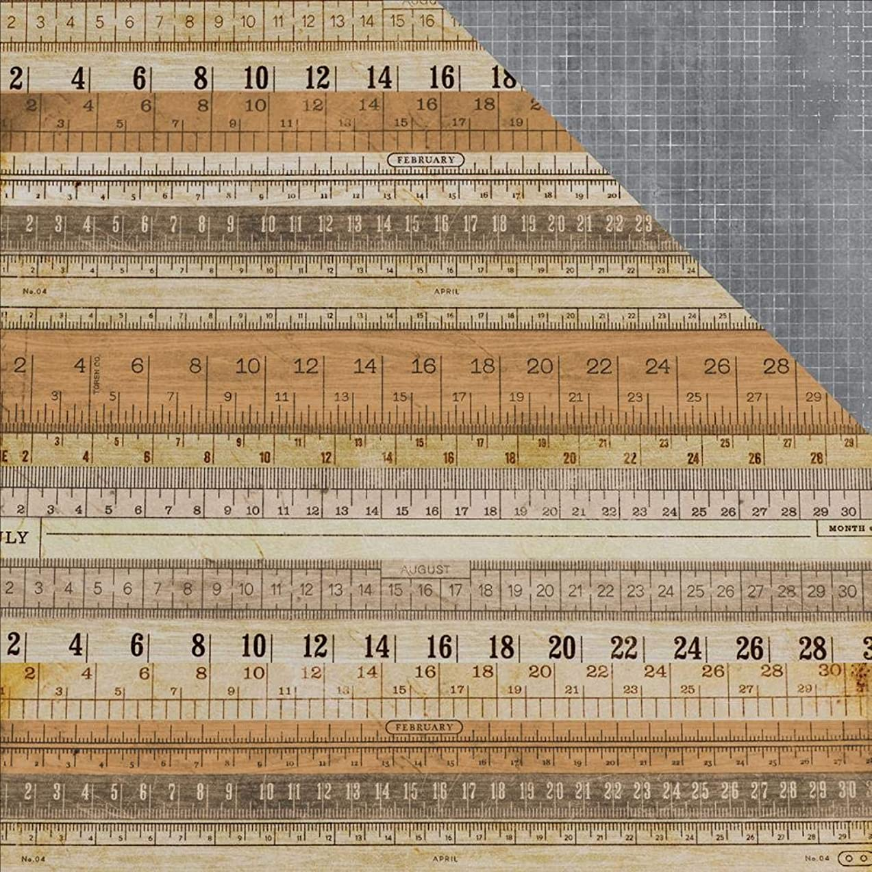 Kaisercraft Measurement Documented Double-Sided Cardstock 12