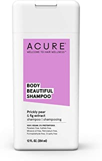 ACURE Body Beautiful Shampoo - Prickly Pear & Fig Extract | 100% Vegan | Performance Driven Hair Care | Boosts Volume & Bounce | Prevents Breakages & Replenishes Moisture | 12 Fl Oz