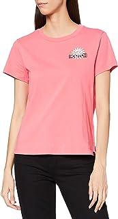 Scotch & Soda T-shirt mit Rundhalsausschnitt und Logo dames T-Shirt