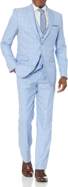 Falcone 3 Pc. Plaid Modern Fit Men's Suit