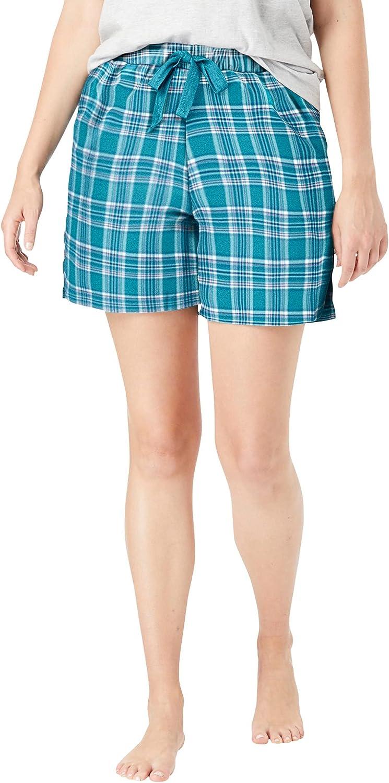 Dreams & Co. Women's Plus Size Flannel Pajama Short Pajamas