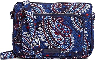 Vera Bradley Iconic RFID Little Hipster in Fireworks Paisley, Signature Cotton