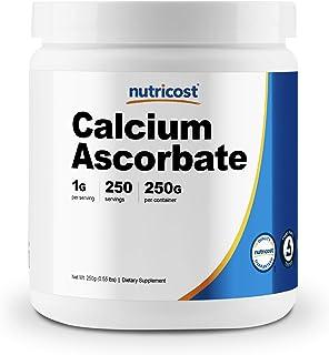 Nutricost Calcium Ascorbate Powder (Vitamin C and Calcium Complex), 250G - Non-GMO, 250 Serving