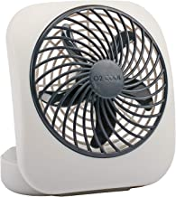 O2COOL Treva 5-Inch Portable Desktop Air Circulation Battery Fan | 2 Cooling Speeds, Compact Folding & Tilt Design, Grey